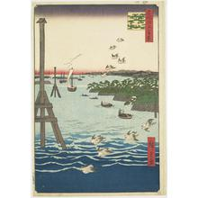 Utagawa Hiroshige: View of Shiba Bay, no. 108 from the series One-hundred Views of Famous Places in Edo - University of Wisconsin-Madison