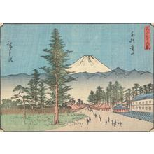 歌川広重: Aoyama in the Eastern Capital, no. 21 from the series Thirty-six Views of Mt. Fuji - ウィスコンシン大学マディソン校