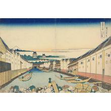Katsushika Hokusai: Nihonbashi in Edo, from the series Thirty-six Views of Mt. Fuji - University of Wisconsin-Madison