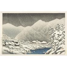 Kawase Hasui: In the Snow, Nakayama-shichiri Road, Hida, from the series Souvenirs of Travel, Third Series - University of Wisconsin-Madison