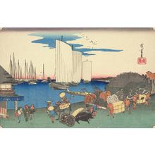 Utagawa Hiroshige: Evening View of Takanawa, from the series Famous Places in the Eastern Capital - University of Wisconsin-Madison