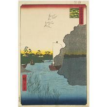 歌川広重: Scattered Pines Beside the Tone River, no. 61 from the series One-hundred Views of Famous Places in Edo - ウィスコンシン大学マディソン校
