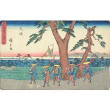 歌川広重: Oiso, no. 9 from the series Fifty-three Stations of the Tokaido (Gyosho Tokaido) - ウィスコンシン大学マディソン校