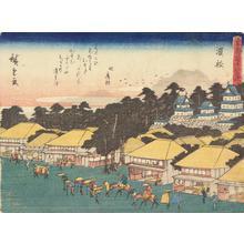 歌川広重: Hamamatsu, no. 30 from the series Fifty-three Stations of the Tokaido (Sanoki Half-block Tokaido) - ウィスコンシン大学マディソン校