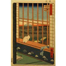 歌川広重: Asakusa Ricefields and Torinomachi Festival, no. 101 from the series One-hundred Views of Famous Places in Edo - ウィスコンシン大学マディソン校
