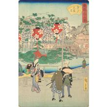 二歌川広重: The Tenjin Shrine at Kameido, from the series Thirty-six Views of the Eastern Capital - ウィスコンシン大学マディソン校