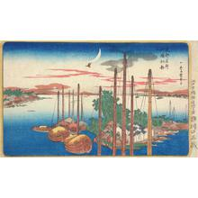 Utagawa Hiroshige: First Cuckoo at Tsukuda Island, from the series Famous Places in the Eastern Capital - University of Wisconsin-Madison