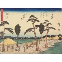 Utagawa Hiroshige: Fukuroi, no. 28 from the series Fifty-three Stations of the Tokaido (Sanoki Half-block Tokaido) - University of Wisconsin-Madison