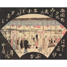 Torii Kiyonaga: Twilight Glow at Ryogoku Bridge, from the series Eight Views of Edo - University of Wisconsin-Madison