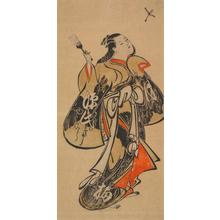 Torii Kiyomasu I: Courtesan Striking a Shuttlecock - University of Wisconsin-Madison