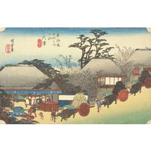 Utagawa Hiroshige: The Running Well Teahouse at Otsu, no. 54 from the series Fifty-three Stations of the Tokaido (Hoeido Tokaido) - University of Wisconsin-Madison