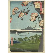 Utagawa Hiroshige: Suijin Grove and Massaki on the Sumida River, no. 35 from the series One-hundred Views of Famous Places in Edo - University of Wisconsin-Madison