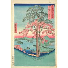 Utagawa Hiroshige: Mt. Kaji in Inaba Province, no. 40 from the series Pictures of Famous Places in the Sixty-odd Provinces - University of Wisconsin-Madison