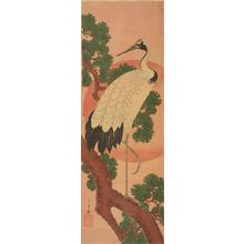 Utagawa Hiroshige: Crane, Pine and Rising Sun - University of Wisconsin-Madison