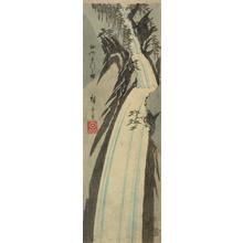 Utagawa Hiroshige: Nunobiki Waterfall in Settsu Province, from a series of Views of the Provinces - University of Wisconsin-Madison