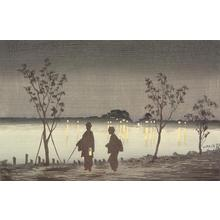 Kobayashi Kiyochika: Evening on the Sumida River - University of Wisconsin-Madison