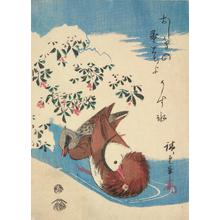 歌川広重: Mandarin Ducks in a Stream - ウィスコンシン大学マディソン校