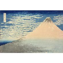 Katsushika Hokusai: South Breeze, Fine Weather ('Red Fuji'), from the series Thirty-six Views of Mt. Fuji - University of Wisconsin-Madison