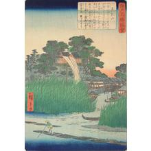 二歌川広重: Matsuchi Hill, from the series Pictures of Famous Places in Edo - ウィスコンシン大学マディソン校