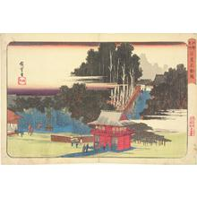 Utagawa Hiroshige: Visitors to the Fudo Temple in Meguro, from the series Famous Places in Edo - University of Wisconsin-Madison