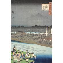 二歌川広重: Enjoying the Evening Cool at Shijo in Kyoto, from the series One-hundred Views of Famous Places in the Provinces - ウィスコンシン大学マディソン校