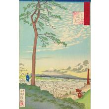 Kobayashi Kiyochika: Distant Sunset from Meguro, from the series One-Hundred Views of Musashi Province - University of Wisconsin-Madison