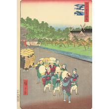 歌川広重: Shinmei Shrine and Zojoji in Shiba, no. 79 from the series Supplement to the One-hundred Famous Views of Edo - ウィスコンシン大学マディソン校