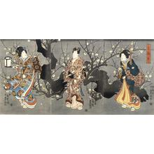 Utagawa Kunisada: Pleasure by a Plum Tree - University of Wisconsin-Madison