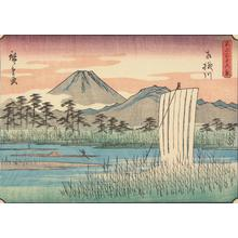 歌川広重: The Sagami River, no. 12 from the series Thirty-six Views of Mt. Fuji - ウィスコンシン大学マディソン校