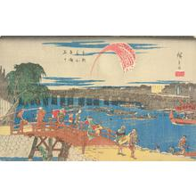 歌川広重: Fireworks at Ryogoku, from the series Famous Places in the Eastern Capital - ウィスコンシン大学マディソン校