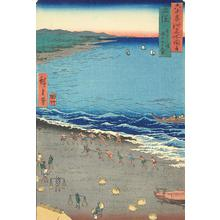 Utagawa Hiroshige: Yasashi Bay, Also Called Ninety-nine Ri Beach, in Kazusa Province, no. 19 from the series Pictures of Famous Places in the Sixty-odd Provinces - University of Wisconsin-Madison