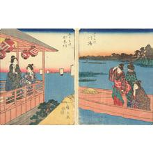 歌川広重: Kanagawa, no. 4 from the series Fifty-three Stations (Figure Tokaido) - ウィスコンシン大学マディソン校