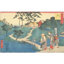 Utagawa Hiroshige: The Taki River at Oji, from the series Famous Places in Edo - University of Wisconsin-Madison