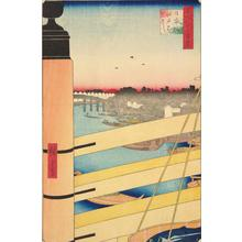 歌川広重: Nihon Bridge and Edo Bridge, no. 43 from the series One-hundred Views of Famous Places in Edo - ウィスコンシン大学マディソン校