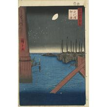 Utagawa Hiroshige: Tsukuda Island from Eitai Bridge, no. 4 from the series One-hundred Views of Famous Places in Edo - University of Wisconsin-Madison