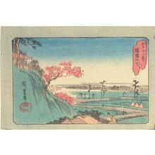 歌川広重: Below Dokan Hill, from the series Twelve Views of Edo - ウィスコンシン大学マディソン校