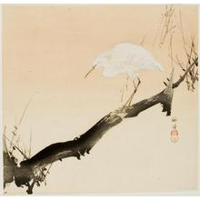 Tsukioka Kogyo: Heron on Branch - University of Wisconsin-Madison