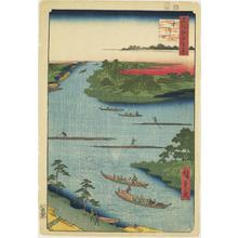 歌川広重: Mouth of the Naka River, no. 60 from the series One-hundred Views of Famous Places in Edo - ウィスコンシン大学マディソン校