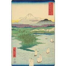 Utagawa Hiroshige: Noge and Yokohama in Musashi Province, no. 15 from the series Thirty-six Views of Mt. Fuji - University of Wisconsin-Madison