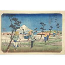 Keisai Eisen: Distant View of Mt. Fuji from Fukiage, no. 8 from the series The Sixty-nine Stations of the Kisokaido - University of Wisconsin-Madison