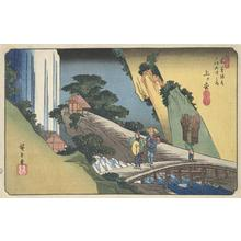 Utagawa Hiroshige: Agematsu, no. 39 from the series The Sixty-nine Stations of the Kisokaido - University of Wisconsin-Madison