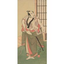 Ippitsusai Buncho: The Actor Ichikawa Yaozo II as a Townsman with a Drawn Sword - University of Wisconsin-Madison