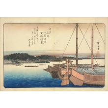歌川広重: Haze on a Clear Day at Shiba Bay, from the series Eight Views of the Environs of Edo - ウィスコンシン大学マディソン校