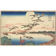 Utagawa Hiroshige: Full Moon at Takanawa, from the series Famous Places in the Eastern Capital - University of Wisconsin-Madison