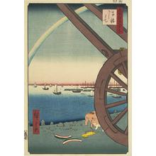 歌川広重: Ushimachi at Takanawa, no. 81 from the series One-hundred Views of Famous Places in Edo - ウィスコンシン大学マディソン校