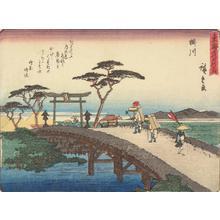 歌川広重: Kakegawa, no. 27 from the series Fifty-three Stations of the Tokaido (Sanoki Half-block Tokaido) - ウィスコンシン大学マディソン校
