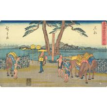 Utagawa Hiroshige: Ishibe, no. 52 from the series Fifty-three Stations of the Tokaido (Gyosho Tokaido) - University of Wisconsin-Madison
