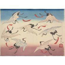 Utagawa Hiroshige II: Seven flying cranes - University of Wisconsin-Madison