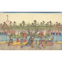 Utagawa Hiroshige: Wisteria at Kameido, from the series Famous Places in the Eastern Capital - University of Wisconsin-Madison