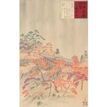 小林清親: Tsuten Bridge, no. 6 from the series Pictures of Famous Places in Japan - ウィスコンシン大学マディソン校